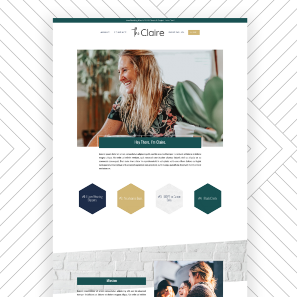 The Claire Effortless Website Kit for SERVICE PROVIDERS by Sam Munoz Consulting, LLC https://samanthamunoz.com/theclaire