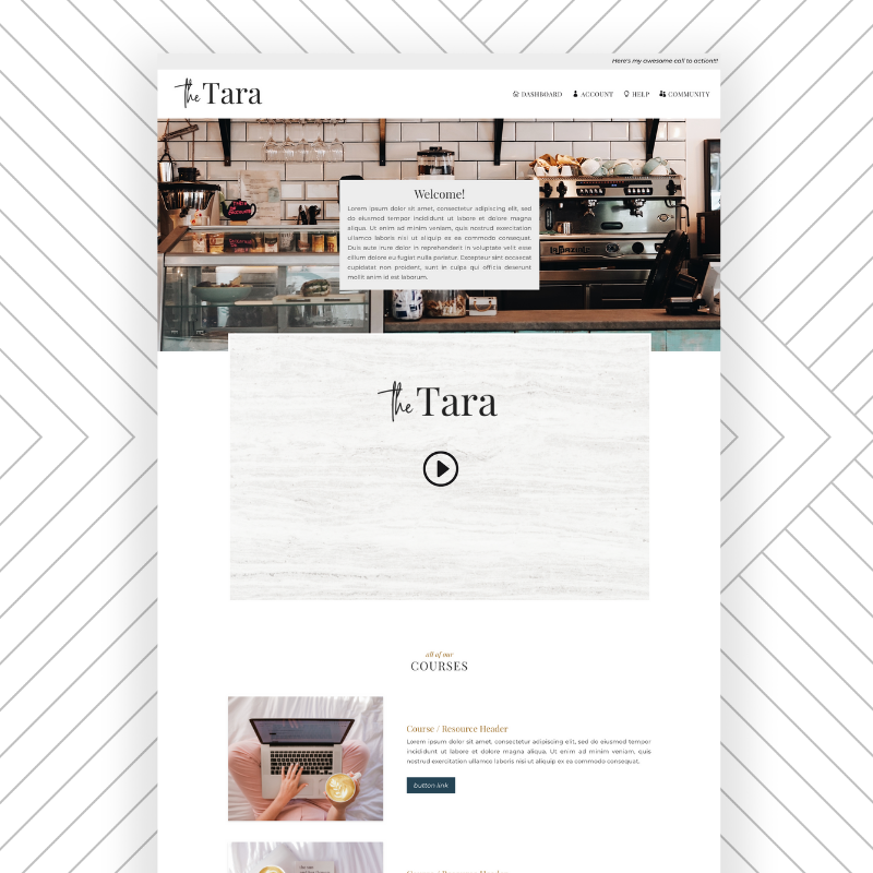 The Tara Effortless Website Kit by Sam Munoz Consulting, LLC https://samanthamunoz.com/thetara