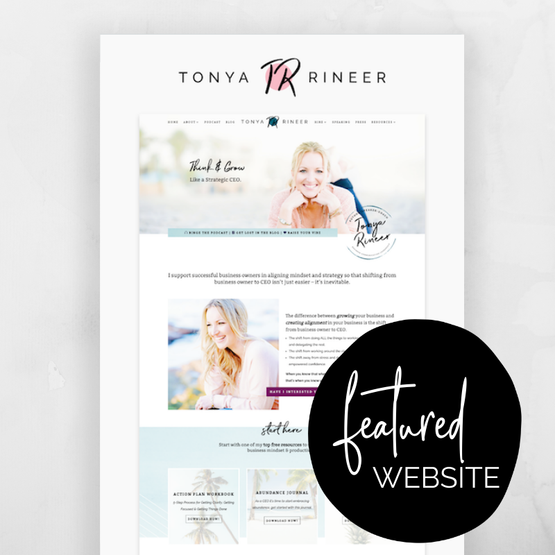 Tonya Rineer is an executive coach for business owners. She worked with Sam Munoz Consulting to create a custom website for her expanding brand! @sammunozconsulting www.samanthamunoz.com #wordpresswebsites #bloggertips #wordpressforbeginners #divi #websiteinspiration