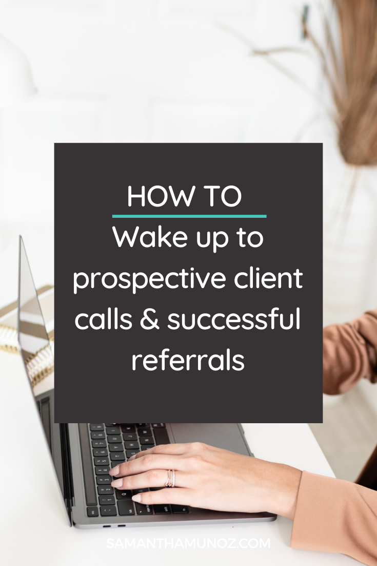 In today's video & post I walk through how to wake up to a full calendar of discovery calls and successful referrals - through strategy & simplicity.@hellosammunoz www.samanthamunoz.com