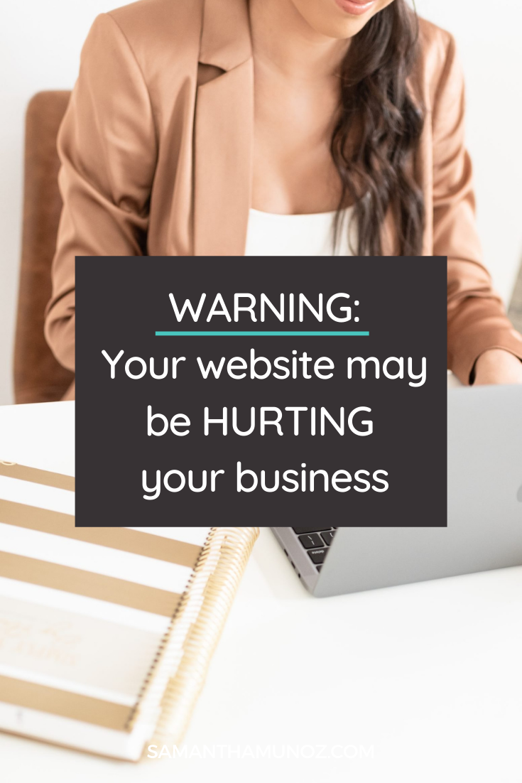 Is your website hurting your business instead of helping it? As a service provider & coach your website should be positioned to work FOR you. @hellosammunoz www.samanthamunoz.com