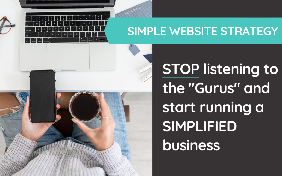 STOP listening to this advice from gurus who really just want you to buy all of the things - instead, focus on running a SIMPLE business. @hellosammunoz www.samanthamunoz.com