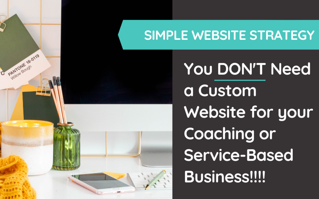 Although it's tempting, you don't NEED a custom website to grow your service-based and coaching business. Period. @hellosammunoz www.samanthamunoz.com