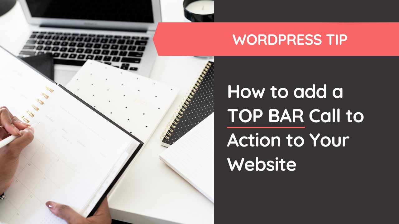 How to add a Top Call to Action Bar in WordPress