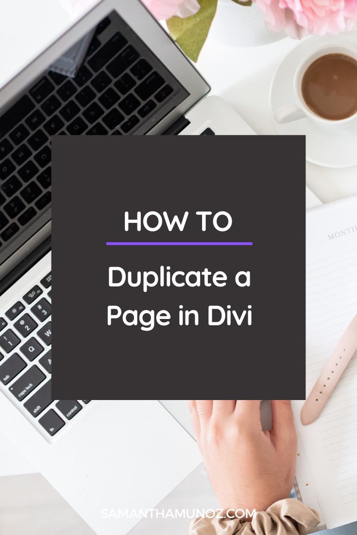 How to Duplicate a Page in Divi