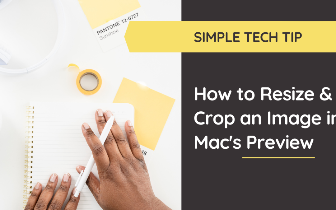 Learn how to effortlessly resize and crop an image using Mac's Preview (no photoshop required!). @hellosammunoz www.samanthamunoz.com