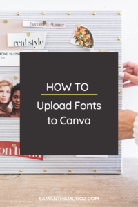 We love using Canva for our business - and with Canva pro you can upload your own fonts. Learn how to upload fonts to Canva in this simple tutorial. www.samanthamunoz.com
